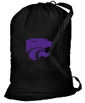 Kansas State Laundry Bag Black