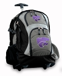 Kansas State Rolling Backpack Black Gray