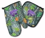 Kansas State Real Camo Oven Mitt and Logo Potholder Set