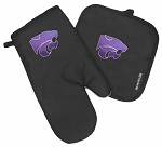Kansas State Oven Mitt and Logo Potholder Set