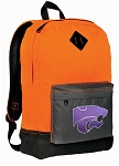Kansas State Backpack Classic Style Cool Orange