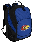 Kansas Deluxe Computer Backpack Blue