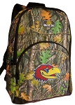 University of Kansas Backpack REAL CAMO DESIGN