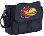 University of Kansas Diaper Bag Navy