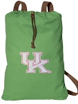 Ladies Kentucky Wildcats Cotton Drawstring Bag Backpacks Cool Green