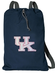 Ladies Kentucky Wildcats Cotton Drawstring Bag Backpacks Cool Navy