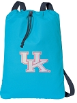 Ladies Kentucky Wildcats Cotton Drawstring Bag Backpacks Blue
