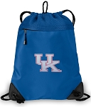 Ladies Kentucky Drawstring Bag MESH & MICROFIBER Royal