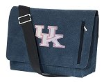 Ladies Kentucky Wildcats Messenger Bags STYLISH WASHED COTTON CANVAS Blue