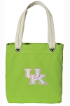 Ladies Kentucky Wildcats Tote Bag RICH COTTON CANVAS Green