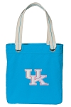 Ladies Kentucky Wildcats Tote Bag RICH COTTON CANVAS Turquoise