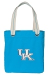 Kentucky Wildcats Tote Bag RICH COTTON CANVAS Turquoise