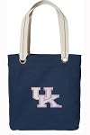 Ladies Kentucky Wildcats Tote Bag RICH COTTON CANVAS Navy