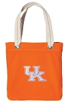 Ladies Kentucky Wildcats Tote Bag RICH COTTON CANVAS Orange