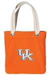 Kentucky Wildcats Tote Bag RICH COTTON CANVAS Orange