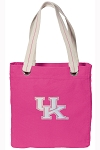 Ladies Kentucky Wildcats Tote Bag RICH COTTON CANVAS Pink