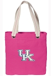 Kentucky Wildcats Tote Bag RICH COTTON CANVAS Pink