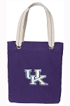 Kentucky Wildcats Tote Bag RICH COTTON CANVAS Purple