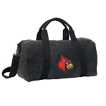 Louisville Cardinals Duffel RICH COTTON Washed Finish Black