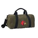 Louisville Cardinals Duffel RICH COTTON Washed Finish Khaki