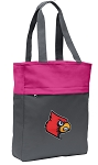 Louisville Cardinals Tote Bag Everyday Carryall Pink