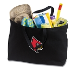 Louisville Cardinals Jumbo Tote Bag Black