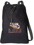 LSU Cotton Drawstring Bag Backpacks