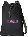 LSU Tigers Cotton Drawstring Bag Backpacks