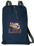 LSU Cotton Drawstring Bag Backpacks Cool Navy