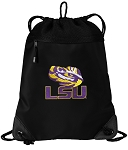 LSU Drawstring Backpack-MESH & MICROFIBER