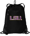 LSU Tigers Drawstring Backpack-MESH & MICROFIBER