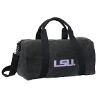 LSU Duffel RICH COTTON Washed Finish Black