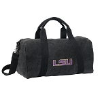 LSU Tigers Duffel RICH COTTON Washed Finish Black