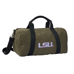 Ladies LSU Duffel RICH COTTON Washed Finish Khaki