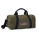 LSU Tigers Duffel RICH COTTON Washed Finish Khaki