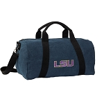 LSU Tigers Duffel RICH COTTON Washed Finish Blue