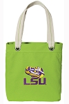 LSU Tote Bag RICH COTTON CANVAS Green