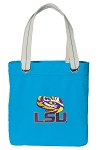 LSU Tote Bag RICH COTTON CANVAS Turquoise