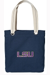 LSU Tigers Tote Bag RICH COTTON CANVAS Navy