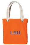 LSU Tote Bag RICH COTTON CANVAS Orange