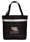 LSU Insulated Tote Bag Black