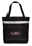 LSU Tigers Insulated Tote Bag Black