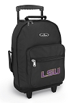 LSU Tigers Rolling Backpacks Black