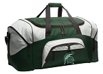 Large Michigan State University Duffle Bag Green