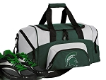SMALL Michigan State University Gym Bag Michigan State Duffle Green