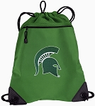 Michigan State Drawstring Backpack Mesh and Microfiber