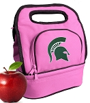 Michigan State Lunch Bag Pink