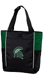 Michigan State Tote Bag Hunter Green