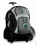 Michigan State Rolling Backpack Black Gray