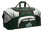 Large Michigan State Duffle Bag Green